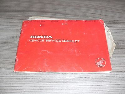 1976 Honda 400 Four Vehicle Service Booklet + Insurance Cover Note P Reg 400/4