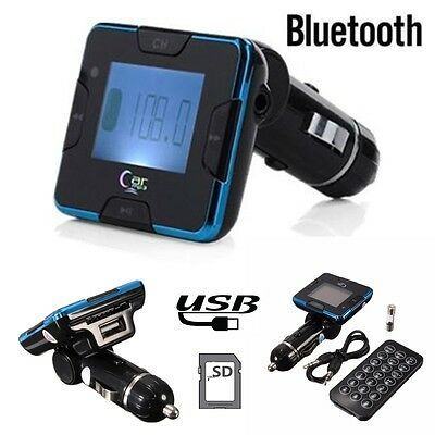 Bluetooth Car Kit Hands-free FM Transmitter SD Microphone MP3 Player USB Charger
