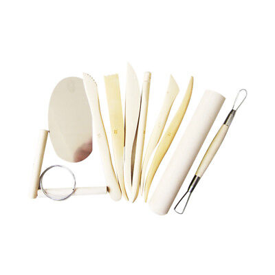10pcs/Set Pottery Ceramic Clay Wax Sculpture Carving Modeling Hobby Tool Set