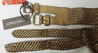 Double Buckle Belt Gold Metallic Size S Small