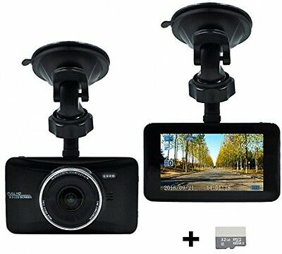 OldShark® Full HD Dash Cam 3 LCD 1080 P 170 Degree Wide Angle In Car Camera WDR