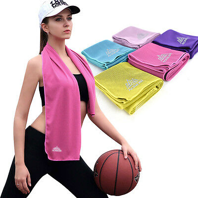Cooling Ice Cold Towel Sports Gym Sweat Absorb Quick Dry Cycling Running Towels