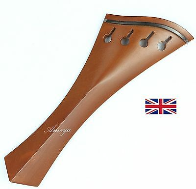 Finest Quality Boxwood Violin Tailpiece - Hollow Harp Model
