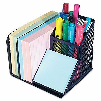 Mesh Office Desk Organizer Post It Storage Collection Holder Dorm Desktop Space