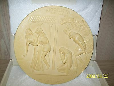 Rigoletto Collector Plate 1976 Ivory Alabaster La Scala Limited Edition