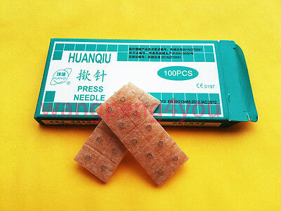 HuanQiu Skin Ear Acupuncture Disposable intradermal Tack Press Needles 100pc/box