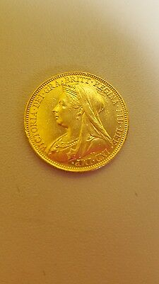 1900 queen victoria full soveriegn 22ct