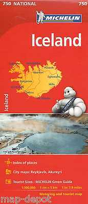 Iceland Map - Michelin 750 - 2017 Edition - New