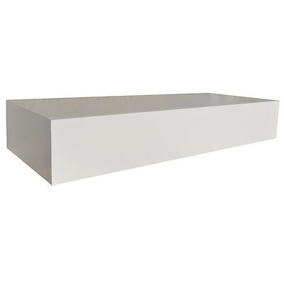 HIDDEN - Floating Storage Shelf with Drawer - White ST13A114