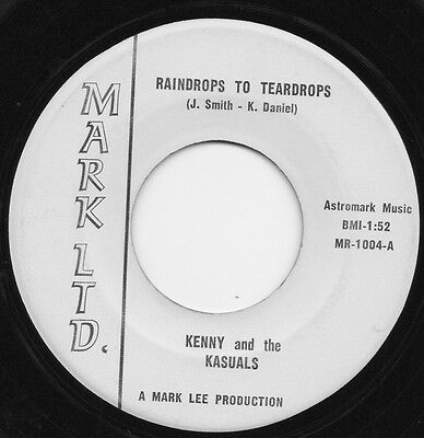 KENNY AND THE KASUALS raindrops to teardrops*strings of time 1966 US MARK GARAGE
