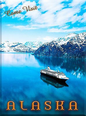 Come Visit Alaska Cruise United States Travel Advertisement Poster Print