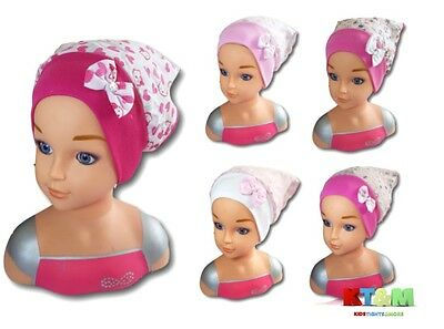 New Baby Girl Summer Cotton Beach Holiday Hat Cap Head Scarf  6-18 Months