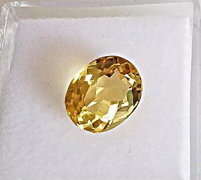 2.46 Ct. Natural Golden Beryl Heliodor Loose Stone Gemstone Oval Cut Gemstone