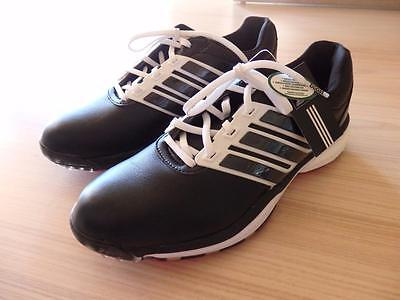 ADIDAS Leather GOLF SHOES WOMENS Black/White/Pink W ADIPOWER BOOST II Sz 10