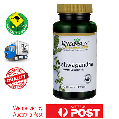 Swanson Premium Ashwagandha 450 mg 100 Caps - Immune System and Stress Support