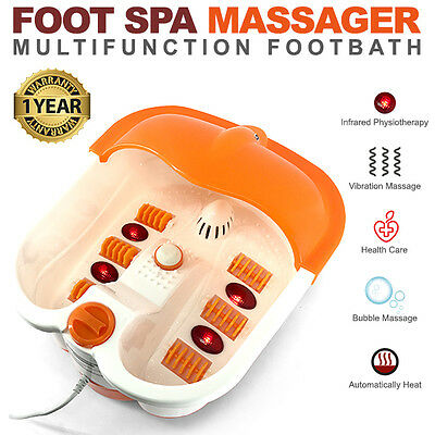 Foot Spa Bath Massager Feet Roller Vibration True Heat Massage Manicure Pedicure