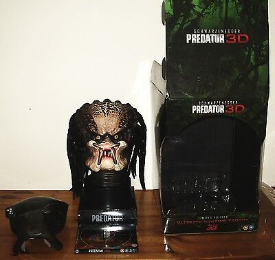 Predator Limited Edition 3D Blu ray Ultimate Hunting Trophy  Head / Bust Box Set