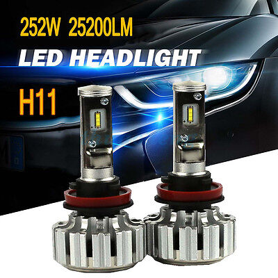 PHILIPS H11 LED Headlight Kit Conversion Bulbs 6000K Canbus Power 252W 25200LM