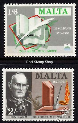 Malta 1971 Literary Anniversaries Complete Set SG 447 - 448 Unmounted Mint