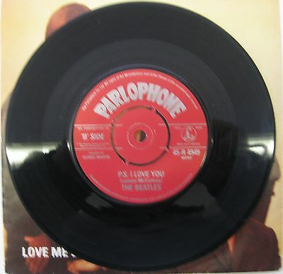 "The Beatles - Love Me Do / P.S.I Love You 7"" Single Re-Issue Picture Sleeve"