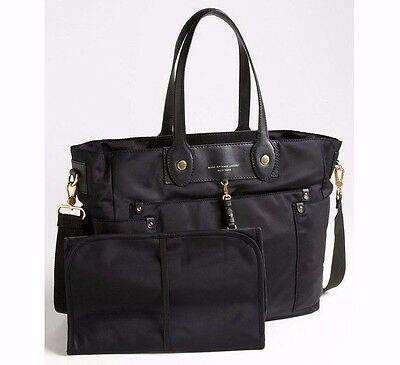 NWT Marc By Marc Jacobs Black Preppy Nylon Eliz-A-Baby Diaper Bag Tote New