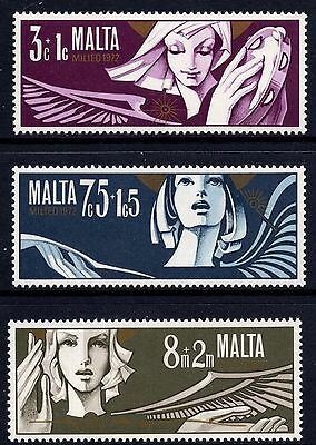 Malta 1972 Christmas Complete Set SG 482 - 484 Unmounted Mint