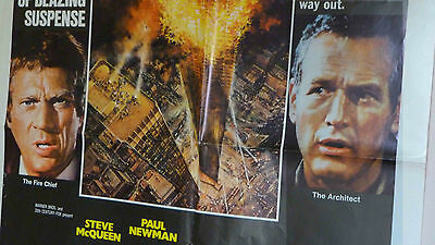 Towering Inferno -1974 - US One Sheet. Steve McQueen and Paul Newman.  Original