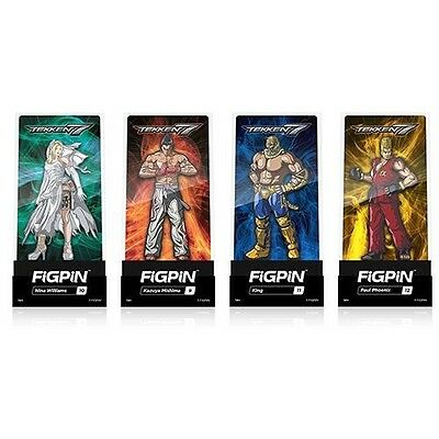 Tekken 7 Set Of 4 Enamel Collector Pins By FiGPiN Limited Quantity!