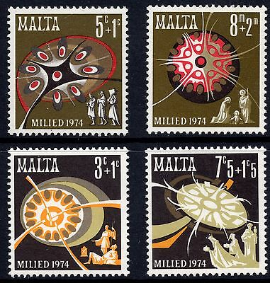 Malta 1974 Christmas Complete Set SG 532 - 535 Unmounted Mint