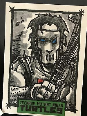 TMNT Turtles Kevin Eastman Autograph Sketch Card IDW LIMITED MICHELANGELO