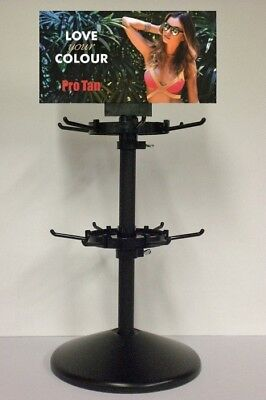 Pro Tan Rotating sachet display stand for sunbed tanning lotion sachets 12 hooks