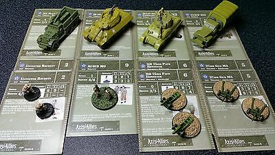 E48 Axis & Allies USA North Africa M-10, M4A1 Commander, M1919 MG, P-4,  MORE