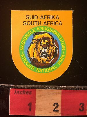 Printed On But Rare South Africa Patch ~ Kruger National Park ~ Lion 69QQ