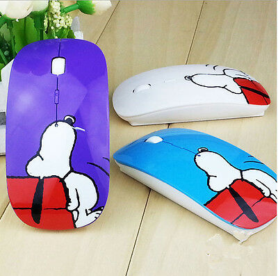 Fashion Cartoon Snoopy Design Gaming Mouse with Pad for Computer and TV 1600DPI