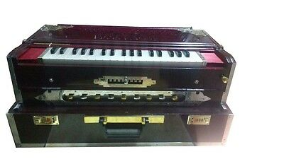 Folding Scalechanger Harmonium 9 Scale~Teak Wood~3 Line Travelling Baja