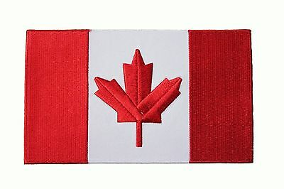 """CANADA Country Flag LARGE IRON-ON PATCH CREST BADGE 5 7/8"""" X 3 1/2"""" Inch"""