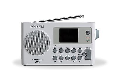 Roberts STREAM107 Portable radio with DAB/DAB+/FM RDS and WiFi internet radio