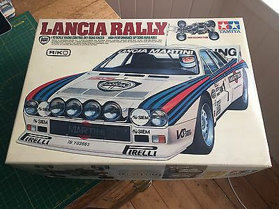 Tamiya Lancia Rally (58040) Complete And Rare Vintage RC Car In Box