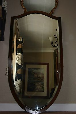 Edwardian Bevelled Edge Mirror with solid Wood Frame