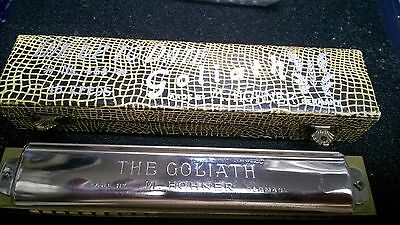 Vintage Harmonica,Hohner,The Goliath,Key C,Manufactured Pre War Excellence!