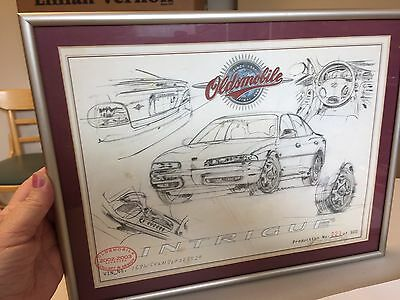 2002-2003 car sketch drawing oldsmobile vintage In Frame 221 Of 500 Collectible