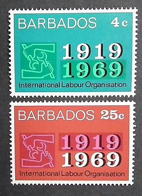 Barbados (1969) 50 Years ILO / Labour Organisation / Emblems  - Mint (MNH)