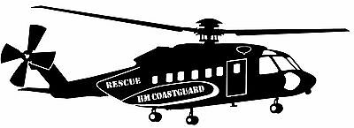 Sikorsky S-92, HM Coastguard - Rescue - Helicopter Vinyl Cut Decal
