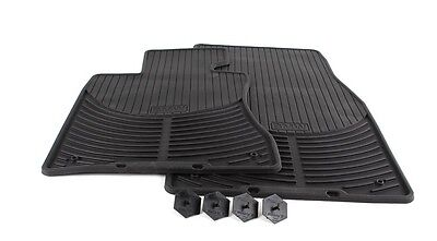 BMW Genuine Rubber Floor Mats for E60 Fronts & Rears 1st & 2nd Row