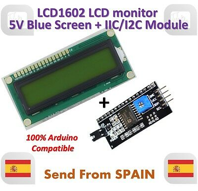 LCD1602 LCD monitor 1602 5V Blue Screen White Code + IIC I2C Module for ARDUINO