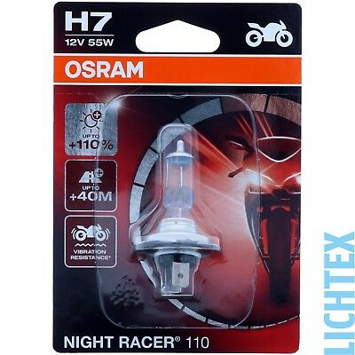 H7 OSRAM Night Racer +110% mehr Licht  - Modernes Design Performance - NEU