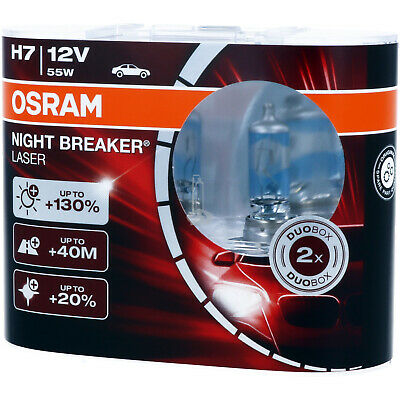 H7 OSRAM Night Breaker LASER - Extra Power Scheinwerfer Lampe DUO-Pack NEU