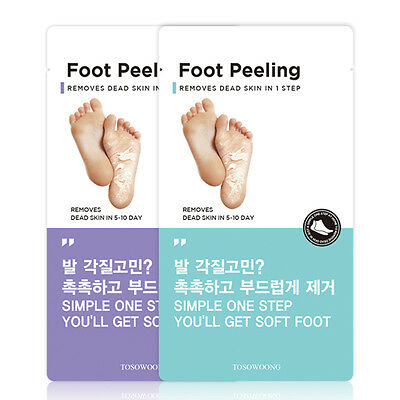 TOSOWOONG Foot Peeling / Masques chaussettes peeling des pieds (taille Moyenne)