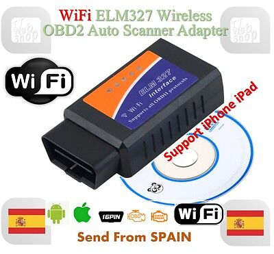 ELM327 WIFI OBD2 / OBDII Auto Diagnostic Scanner Tool ELM 327 for Android iOS PC