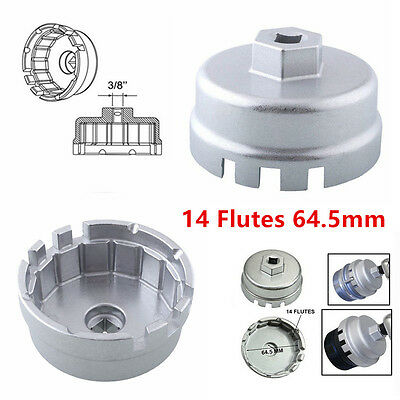 14 Flutes Oil Filter Wrench Cap Housing Tool Remover Kit for Toyota Scion Lexus